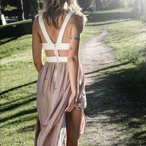 NWOT Blush Noir Cut Out Maxi Boho Goddess Dress